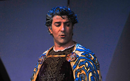 Constantinos Yiannoudes as Macbeth